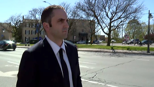 Jamie Gardiner is seen outside the courthouse in London, Ont. in this undated file photo.