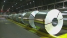 Steel bundles are pictured in this file photo.