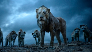 "This image released by Disney shows Scar, voiced by Chiwetel Ejiofor, in a scene from ""The Lion King."" (Disney via AP)"