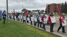 AUPE protest, July 19