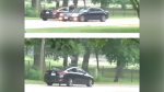 Two cars of interest were seen in the area of the shooting on Park Road South. (Source: Brantford Police Service)