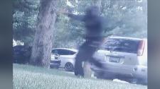 A man caught on surveillance video in Brantford