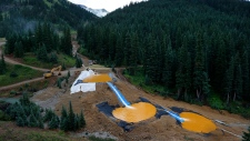 mining pollution retention ponds