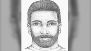 West Shore RCMP have released this forensic sketch of the suspect. (West Shore RCMP)