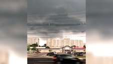 Ominous storm clouds form in London, Ont.