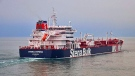 In this undated photo issued Friday July 19, 2019, by Stena Bulk, showing the British oil tanker Stena Impero at unknown location, which is believed to have been captured by Iran. (Stena Bulk via AP)