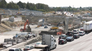 The McKenzie Interchange Project is expected to be complete by next summer. (CTV Vancouver Island)