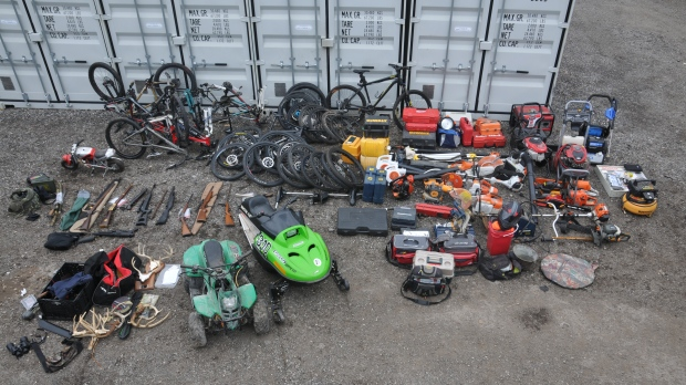 Stolen items in a break and enter investigation