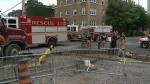 Man rescued from balcony in Elgin street fire