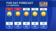 Lethbridge forecast for July 19, 2019