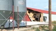 Tornado, damage, Carmangay, Vulcan County