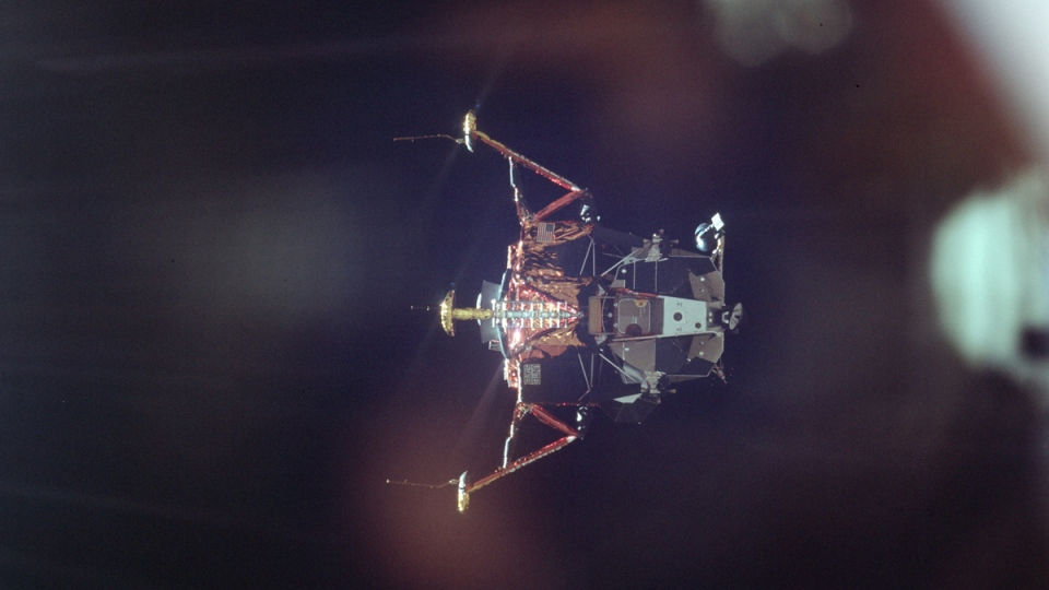 Apollo 11 Lunar Module undocks