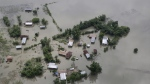 An aerial view of flooded Majuli, an island in River Brahmaputra, Assam, India, on July 16, 2019. (AP)