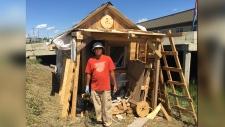 Man behind homemade house tells his story