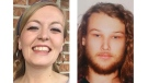 Lucas Robertson Fowler of Australia (right) and Chynna Deese, a U.S. woman, shown in these RCMP handout photos, were found dead along the Alaska Highway near Liard Hot Springs, south of the B.C. and Yukon boundary. (THE CANADIAN PRESS/HO-RCMP MANDATORY CREDIT)