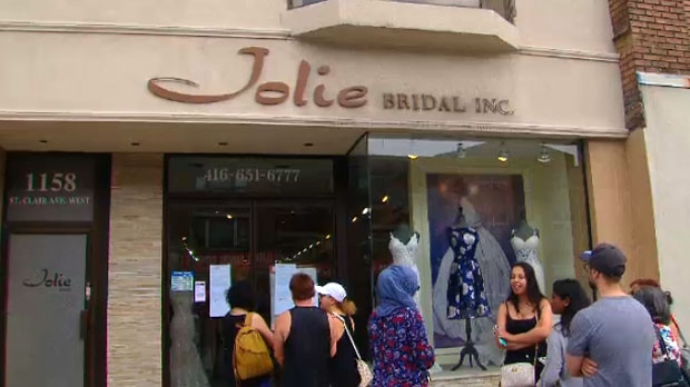 Jolie Bridal shut down unexpectedly about a week ago, leaving many brides-to-be in the dark.
