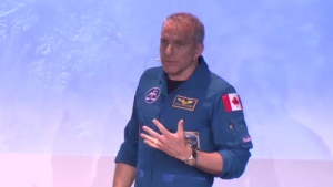 As part of an event at the Montreal Science Centre celebrating the 50th anniversary of the moon landing Canadian astronaut David Saint-Jacques spoke about his own experiences in space and the future of space exploration.