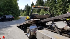 """Police in Saanich have impounded a motorcycle after catching it travelling at """"an extremely high rate of speed."""" (Saanich Police"""