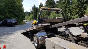 "Police in Saanich have impounded a motorcycle after catching it travelling at ""an extremely high rate of speed."" (Saanich Police"