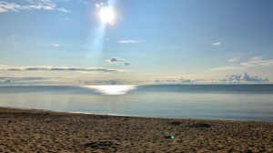 Sunrise over Lake Winnipeg. Photo by Bruce Schindell.
