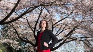 Julia Gartley poses for a photo in Vancouver, Friday, April 12, 2019. (THE CANADIAN PRESS / Jonathan Hayward)