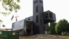 Milwaukee home made out of shipping containers