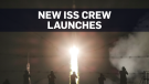 ISS crew blasts off on moon landing anniversary
