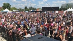K-Days guests gathered Sunday afternoon to set a Guinness World Record for the most people doing the Baby Shark Dance.