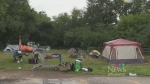 New tent city set up in downtown Fredericton