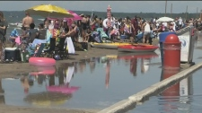 The beachfront at Wasaga Beach is slowly being swallowed up by rising water levels. A popular getaway for sun-seekers, tourists and local businesses are concerned