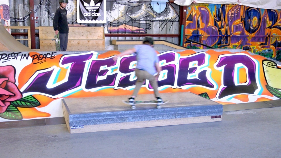 A mural was painted at the Compound YYC Skate Park dedicated to Jesse De Champlain.