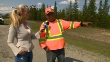 Trevor Pierre saw Deese and Fowler's bodies early Monday morning on the Alaska Highway. (Nine News Australia)