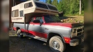 The pair was travelling in a red and grey Dodge pickup truck with a sleeping camper and B.C. licence plate LW6433. (RCMP handout)