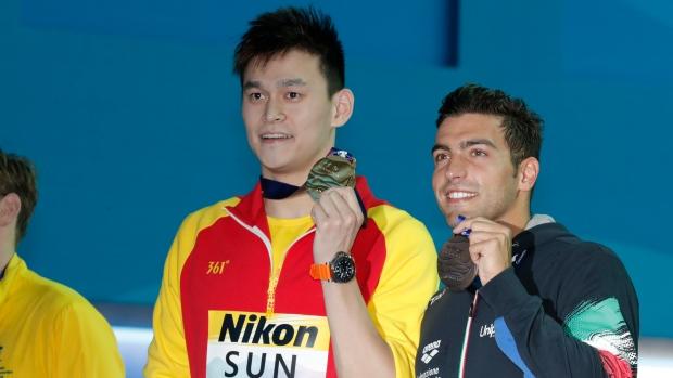 Mack Horton and Sun Yang