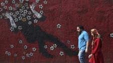 A mural in downtown Tehran, Iran