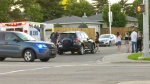 Police say a child who was biking across a street in an unmarked crosswalk was hit by a westbound vehicle Sunday evening at 167 Street and 95 Avenue.