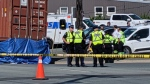 Police and emergency crews respond to a fatal pedestrian collision in Halifax on July 22, 2019. (Emily Baron-Cadloff/CTV Atlantic)