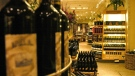 Stock sits on shelves in a Yonge St. Liquor Control Board of Ontario store in Toronto Wednesday January 26, 2005. (The Canadian Press / Aaron Harris)