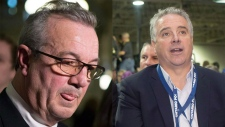 Randy Hillier(left) and Dean French (right) are seen in this composite image. (The Canadian Press)