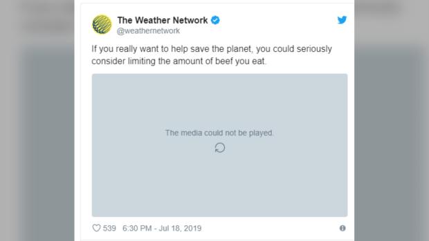 Weather Network tweet
