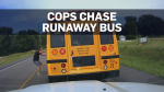U.S. police stop school bus with force