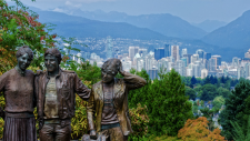 The view from Queen Elizabeth Park is seen in an image from Let's Go Biking.