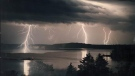 Lighting strikes in the vicinity of Merigomish Harbour, N.S. on Sunday. (COURTESY DAN BOURQUE)