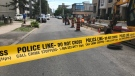 Emergency crews attend the scene of a firearm discharge near Wellesley and Sherbourne streets on July 22, 2019. (Craig Wadman/CTV News Toronto)