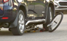 Bike collision west Edmonton