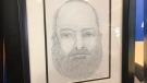 A sketch of a man found dead on a highway pullout in northern B.C. last week is shown at an RCMP news conference Monday, July 22, 2019.