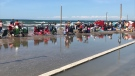 Water levels have reached record-highs on Lake Huron and Georgian Bay for July, 2019 (CTV Barrie Aileen Doyle)