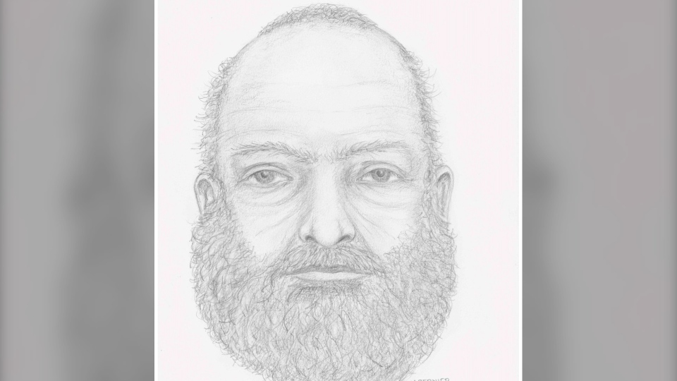 Police sketch of the man whose body was found near the two teenagers' burnt-out truck. (B.C. RCMP)