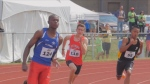 Boys run track at the 2014 Francophone Games in Gatineau. (Canadian Francophone Games)