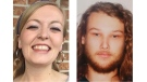 Lucas Robertson Fowler of Australia (right) and Chynna Deese, a U.S. woman, shown in these RCMP handout photos, were found dead along the Alaska Highway near Liard Hot Springs, south of the B.C. and Yukon boundary. RCMP in northeastern British Columbia confirm they are investigating a double homicide involving the two young travellers. THE CANADIAN PRESS/HO-RCMP